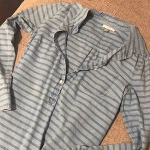 J. Crew Chambray button- top